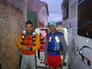 Victor y Raul a su paso por El Rebollar,  Requena